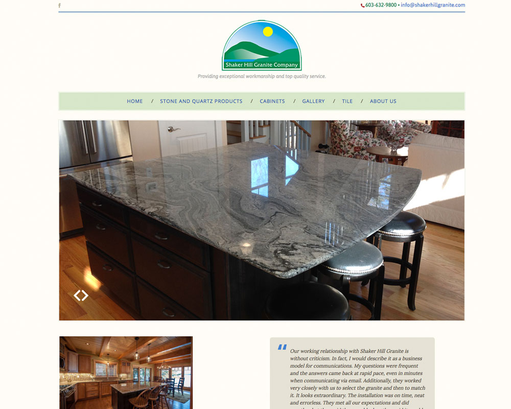 Shaker Hill Granite Website