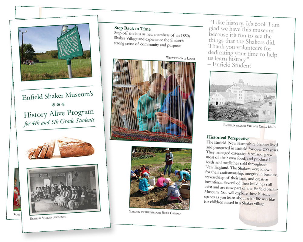 Enfield Shaker Museum History Alive Brochure